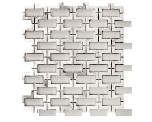Louvre Carrara Waterjet Cut Mosaic