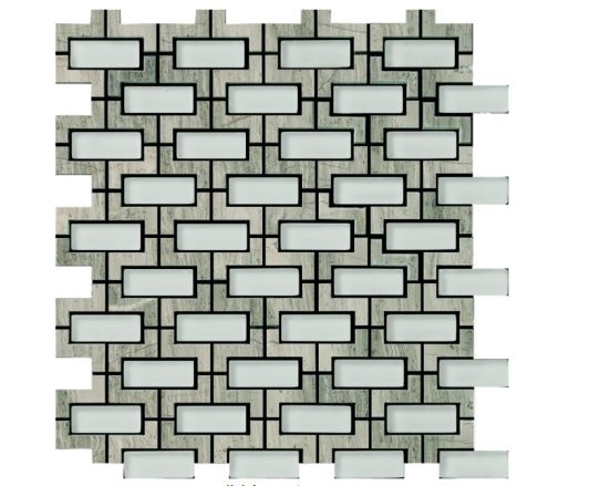 Louvre Grey Waterjet Cut Mosaic