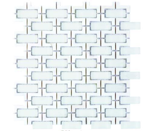 Louvre Thassos Waterjet Cut Mosaic