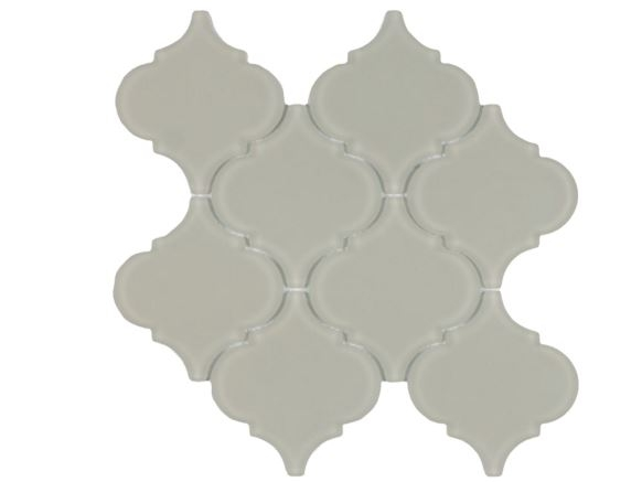 Arabesque Beige Frosted Waterjet Cut Mosaic