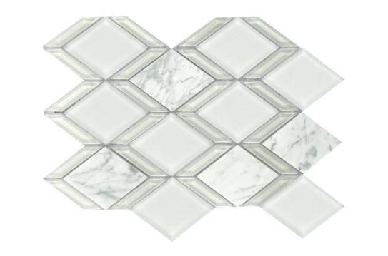 Howlite Waterjet Cut Mosaic