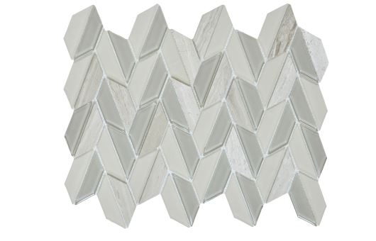 Lily Grey Waterjet Cut Mosaic