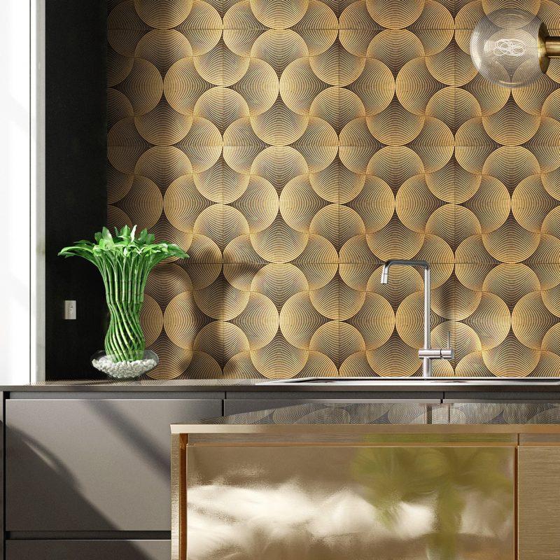 Dizzy Gold Leaf Mosaic