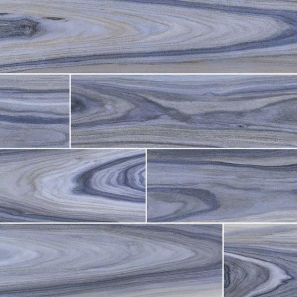 8x48 Deep Blue Wood Look Porcelain Tile