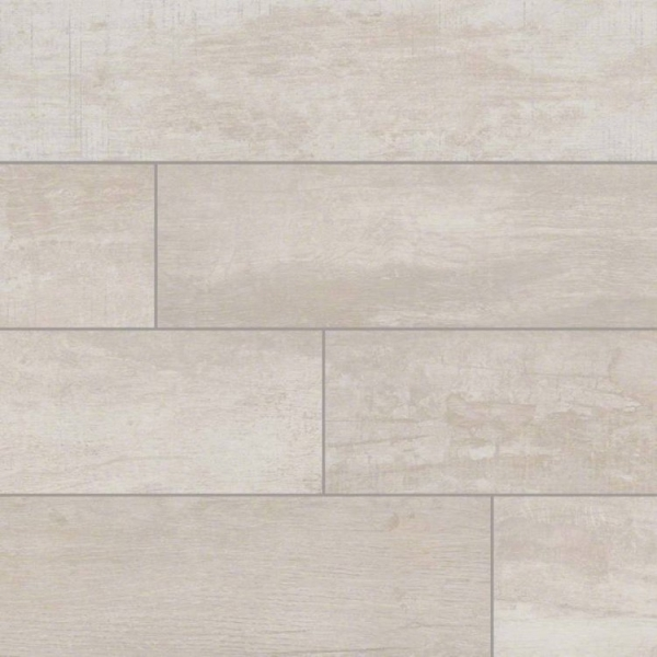 6x40 White Birch Wood Look Porcelain Tile