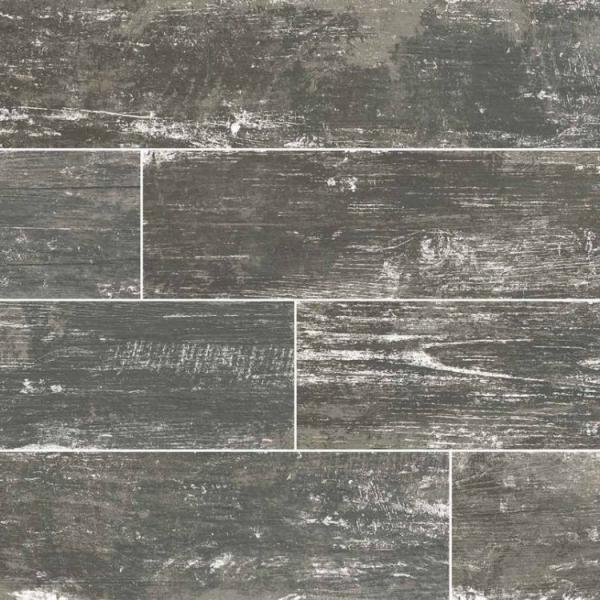 Silver Vintage Wood Look Porcelain Tile