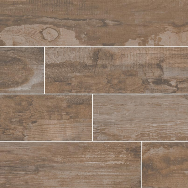 Brown-Salvage Wood Look Porcelain Tile
