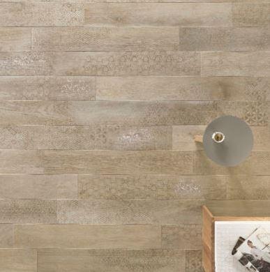 Nordek Greige Decor Wood Look Porcelain Tile